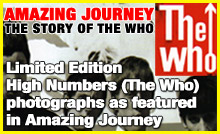 The Who High Numbers limited edition photographs available from It's Only Rock 'n' Roll, London