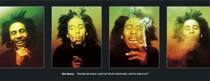 Bob Marley: Poster - Excuse Me Door Poster