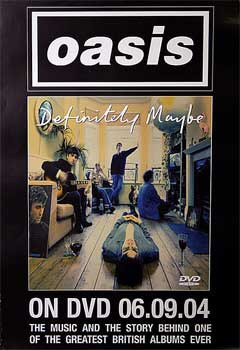 Oasis: Original Memorabilia - Definitely Maybe DVD Promo Poster