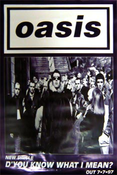 Oasis: Original Memorabilia - D' You Know What I Mean Single Promo Poster