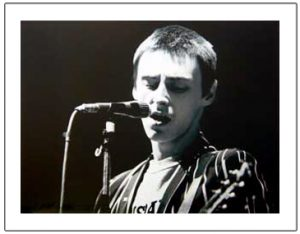 Paul Weller: Print - Paul on Stage(Close up)