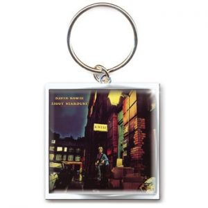 David Bowie: Keyring - Ziggy Stardust Album Cover Metal Keyring