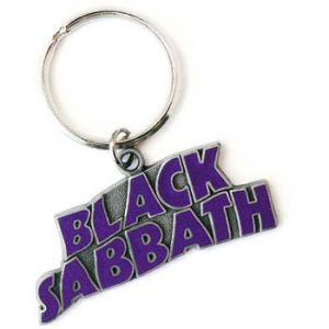Black Sabbath: Standard Keyring - Wavy Logo Purple