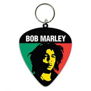 Bob Marley: Keyring - Colours Rubber Plectrum