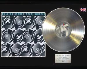 Rolling Stones, The: Framed Discs - Silver Album - Steel Wheels