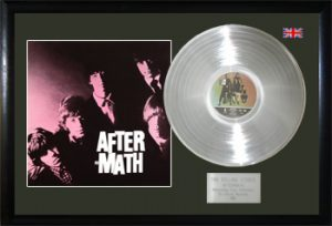 Rolling Stones, The: Framed Discs - Silver Album - Aftermath