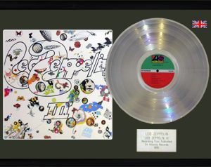 Led Zeppelin: Framed Discs - Silver Album - Led Zeppelin III