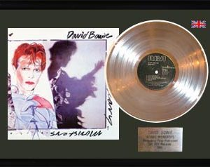 David Bowie: Framed Discs - Silver Album - Scary Monsters