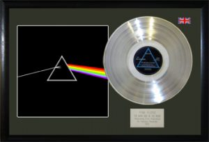 Pink Floyd: Framed Discs - Silver Album - The Dark Side of the Moon