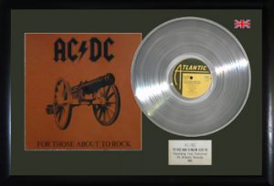 AC/DC: Framed Discs - Silver Album - For Those About to Rock