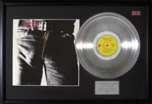 Rolling Stones, The: Framed Discs - Silver Album - Sticky Fingers