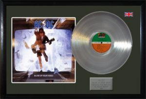 AC/DC: Framed Discs - Silver Album - Blow Up Your Video