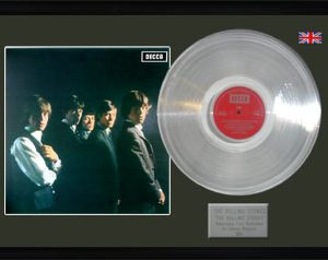 Rolling Stones, The: Framed Discs - Silver Album - The Rolling Stones