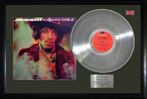 Jimi Hendrix: Framed Discs - Silver Album - Voodoo Chile