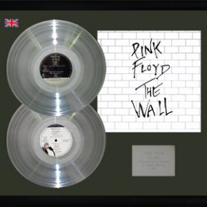 Pink Floyd: Framed Discs - Silver Double Album - The Wall