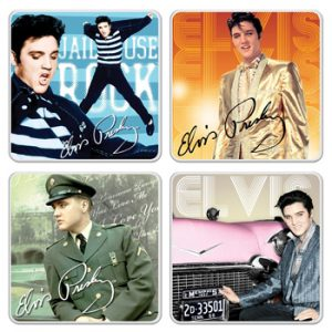 Elvis Presley: Coasters -  4 pc. Ceramic Coaster Set