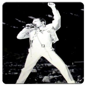 Queen: Single Coaster - Freddie On Stage