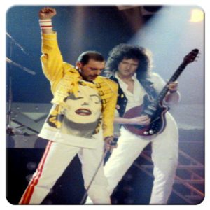 Queen: Single Coaster - Freddie and Brian
