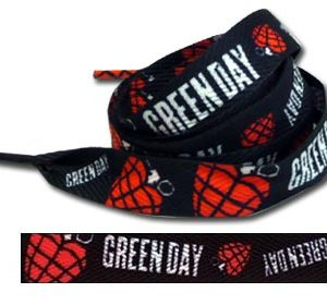 Green Day: Shoelaces - Heart Grenade Logo