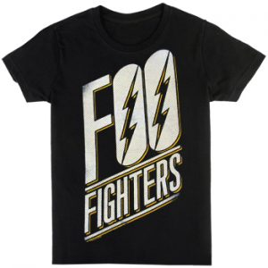 Foo Fighters: T-shirts (Mens) - Slanted Logo