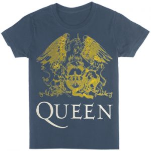 Queen: T-shirts (Mens) - Yellow Crest