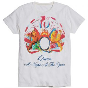 Queen: T-shirts (Mens) - A Night At The Opera (White)