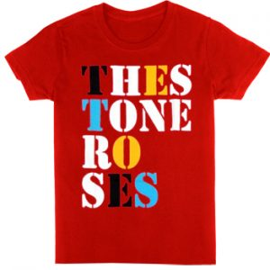 Stone Roses, The: T-shirts (Mens) - Font Logo Red