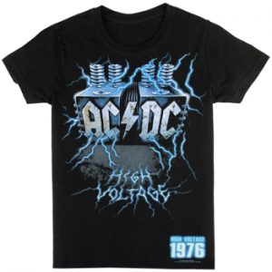 AC/DC: T-shirts (Mens) - Live Wire