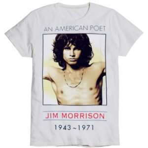 Doors, The: T-shirts (Mens) - American Poet Jim Morrison 1943-1971