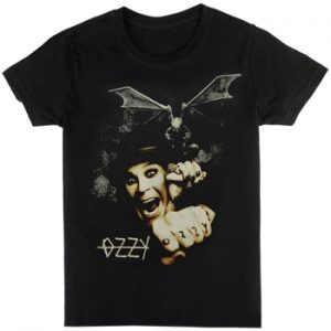 Ozzy Osbourne: T-shirts (Mens) - Gargoyle Bat Fright