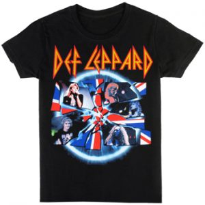 Def Leppard: T-shirts (Mens) - Shattered Group Photo