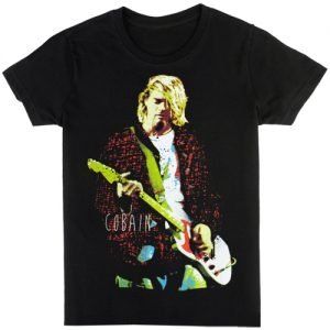 Kurt Cobain: T-shirts (Mens) - Red Jacket