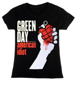 Green Day: T-shirts (Ladies) ? Super Skinny American Idiot