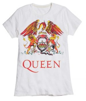 Queen: T-shirts (Ladies) - Classic Crest White