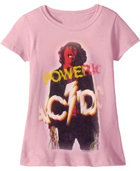 AC/DC: T-shirts (Ladies) - Powerage Distressed