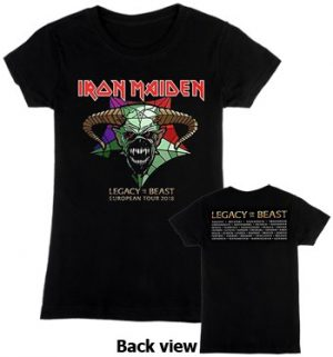 Iron Maiden: T-shirts (Ladies) - Legacy of the Beast Tour