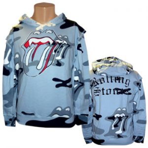 Rolling Stones, The: Designer Hoodie - Army Pattern