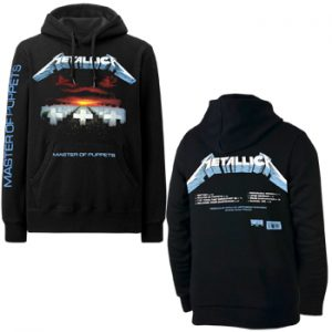Metallica: Hoodie - Master Of Puppets Tracks(Back Print)