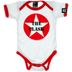 Clash, The: Baby & Kids Wear - Star Logo Baby Body Suit