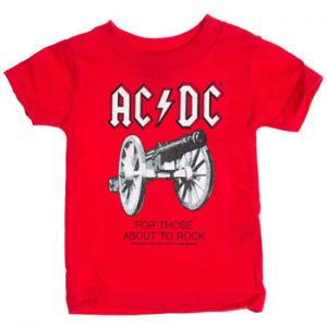 AC/DC: Baby & Kids Wear - Cannon Red Kids T-shirt