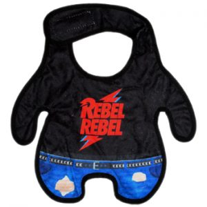 David Bowie: Baby & Kids Wear - Rebel Rebel Baby Bib