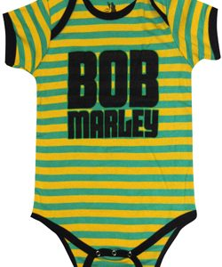 Bob Marley: Baby & Kids Wear - Jamaica Strip Baby Body Suit