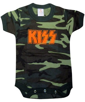 Kiss: Baby & Kids Wear - Orange Logo Baby Body Suit