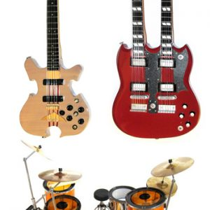 Led Zeppelin: Miniature Guitar - Guitars and Drum Kit