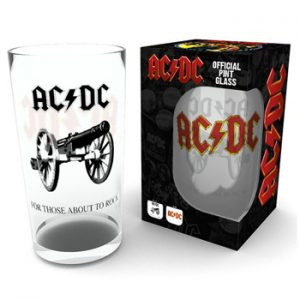 AC/DC : Glass - Rock Pint Glass