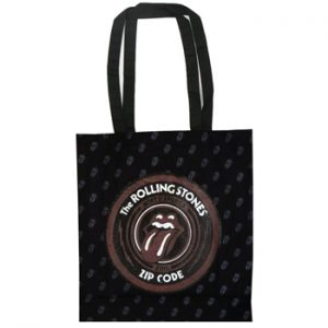 Rolling Stones, The: Cotton Tote - Zip Code All Over Tongue