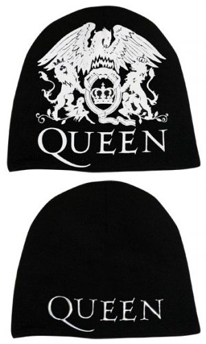 Queen: Beanie - Crest and Metallic Logo