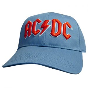 AC/DC: Baseball Cap - Red Logo (Denim Blue)