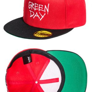 Green Day: Baseball Cap - Radio Snapback Hat (Red)