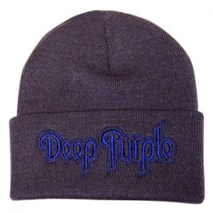 Deep Purple: Beanie - Purple Logo in Grey